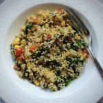 Ma recette de Quinoa aux légumes, tahini et citron