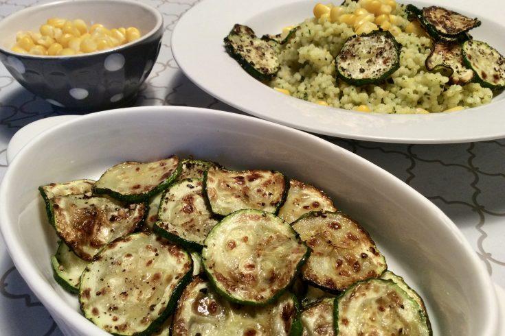 Ma recette de couscous au pesto, courgettes et mais