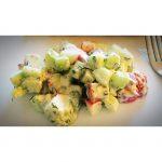 Salade de concombre & radis avec vinaigrette au yogourt