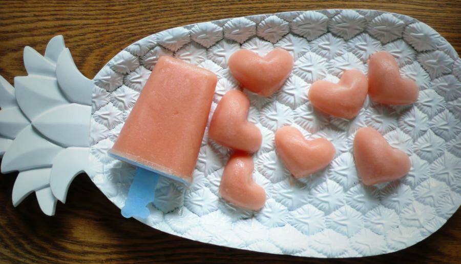 coeur de melon d'eau et yogourt grec