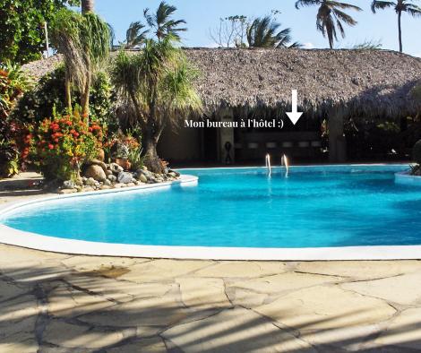 piscine de l'hôtel à Cabarete caraïbes