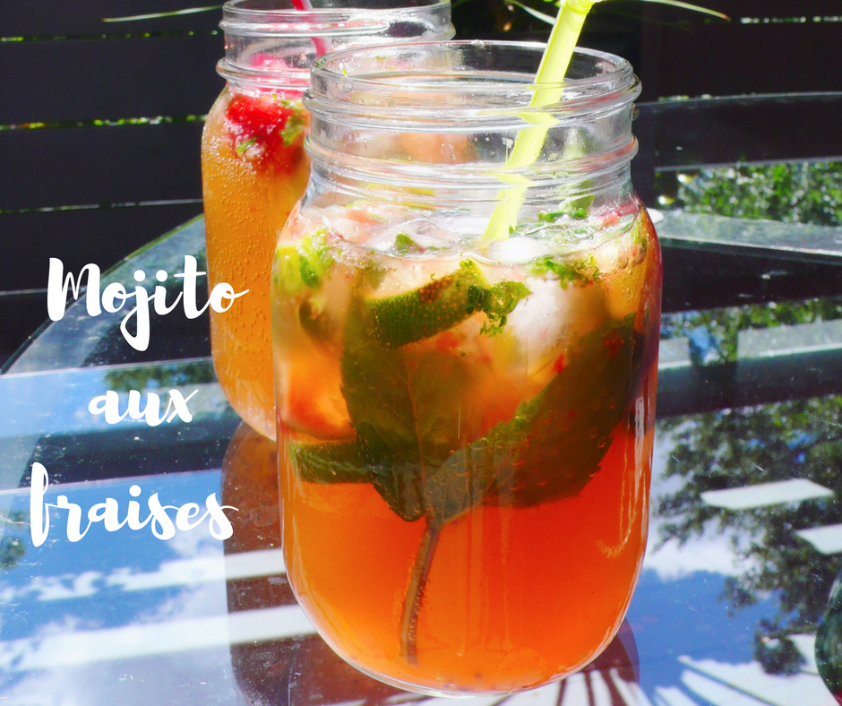 cocktail menthe mojito fraises