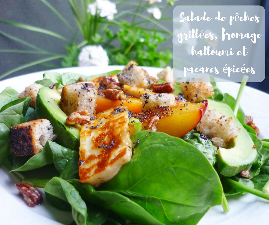 salade, fruits, grillées