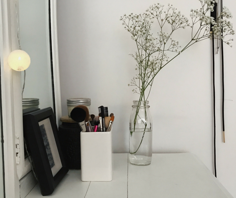 fleur, minimaliste, blanc