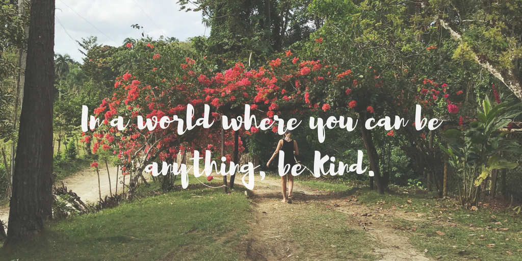 In a world where you can be anything, be kind karma