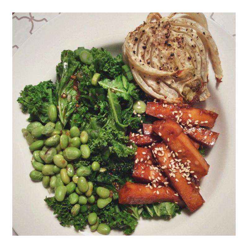 Ma recette de bol vert et tofu à l'érable