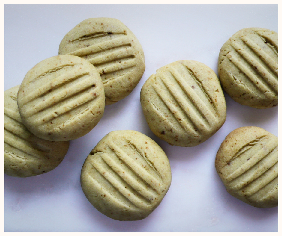 biscuits au matcha style shortbread