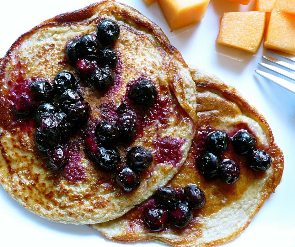 pancake vegan aux bleuets